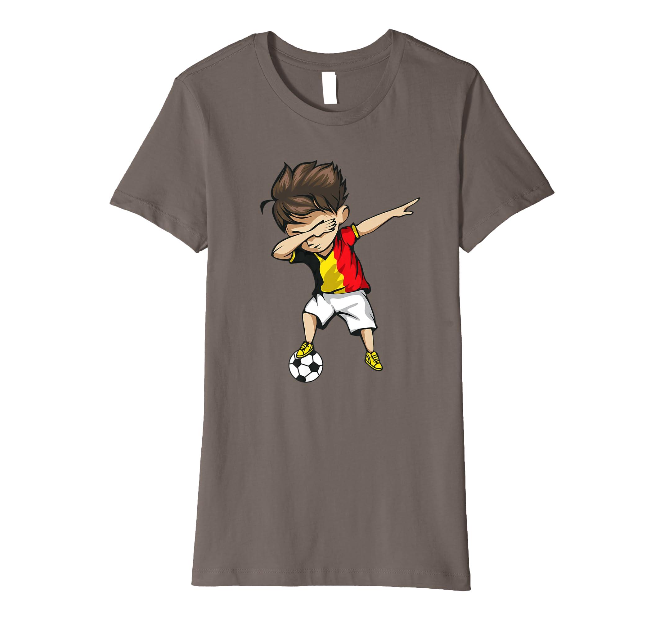 ef18455dba0 Amazon.com: Dabbing Soccer Boy Belgium Jersey Shirt - Belgian Football:  Clothing