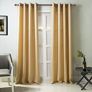 RT Designers Collection, Beige Madrid Textured 54 x 84 in. Grommet Single Curtain Panel