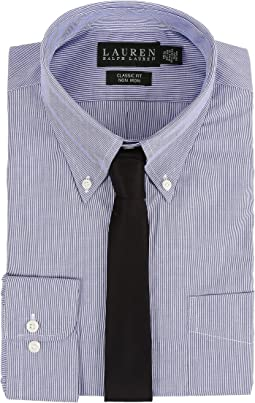 Hairline Stripe Classic Button Down Shirt
