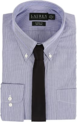 LAUREN Ralph Lauren Hairline Stripe Classic Button Down Shirt
