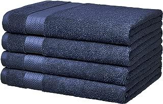 AmazonBasics Performance Bath Towels, Set of 4, Twilight Blue