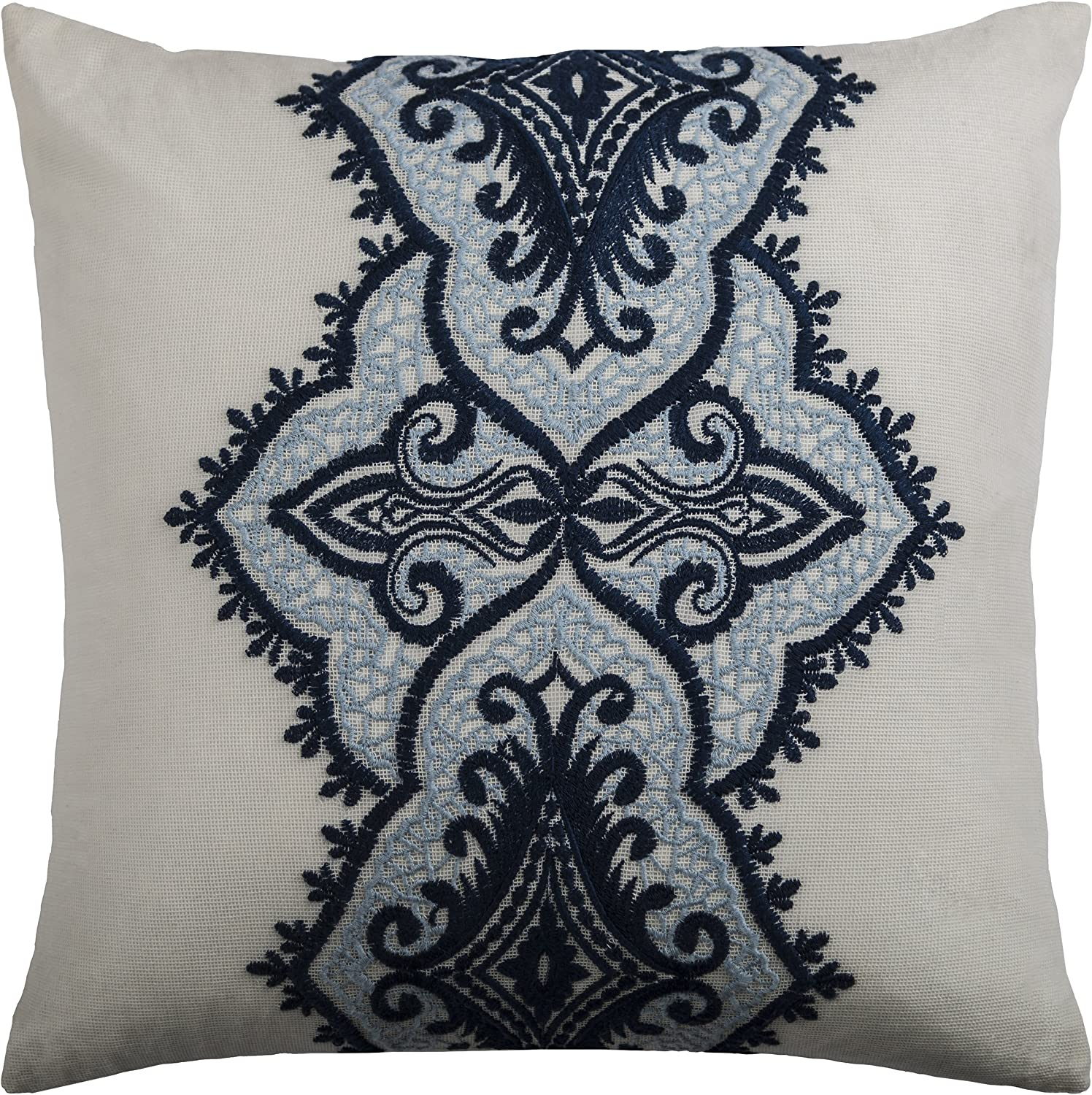 Rizzy Popular Home T09705 Decorative Pillow Navy 18
