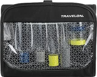 Travelon: Trifold Wet/Dry 1 Quart Bag With Bottles - Black
