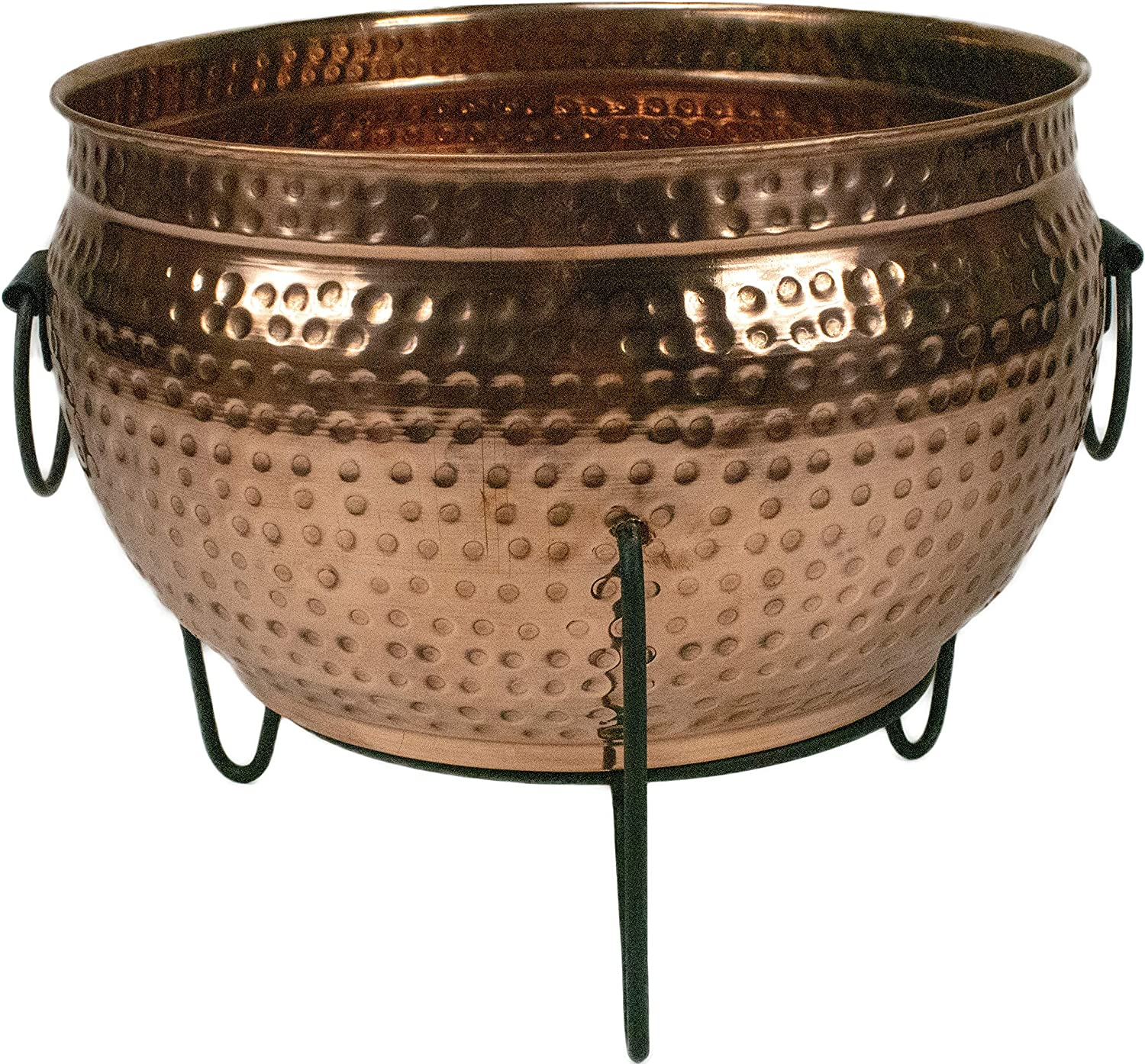 """Global Outdoors 16"""" Copper Planter Fire Pit – Best Value"""
