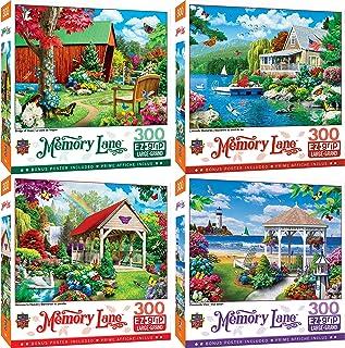 MasterPieces Memory Lane 300 Puzzles Collection - 4-Pack 300 Piece Jigsaw Puzzle Bundle