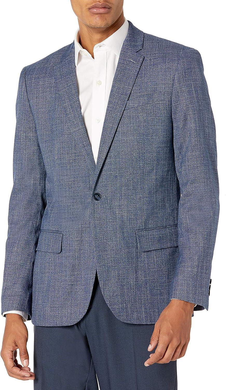 Perry Ellis Men's Slim Fit Crosshatch Suit Jacket
