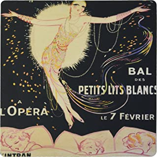 3dRose 8 x 8 x 0 25 Inches French Art Deco Flapper Mouse Pad (mp_162459_1)