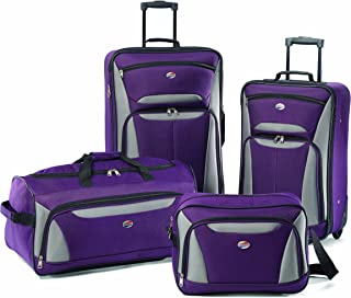 Fieldbrook II Softside Upright Luggage Set, Purple/Grey,...