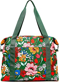 Ban.do Getaway Weekender Bag, Carry On Bag with Exterior Sleeve to Secure to Luggage, Superbloom