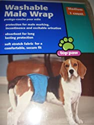 Male Wrap - Washable for Medium Dogs / Fits 15-45 lbs. / waist 13-21 in