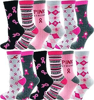 pink ribbon socks