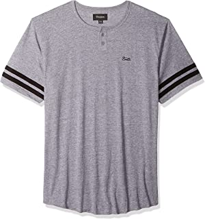 Brixton Men's Potrero Ii Tailored Fit Short Sleeve Henley Knit Tee