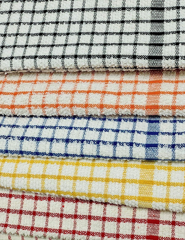 Big check, Pack of 6 ELAFY Tea Towels Set T Towels and Bar Towels dish cloth /& towels 100/% Terry Tea Towels Cotton Super Soft and Absorptive Dish Towels Set Of 6 Check Kitchen Towels