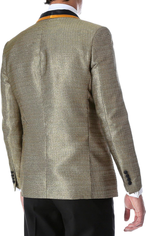 Ferrecci Mens Webber Premium Pattern Directly trend rank managed store Slim Blaze Tuxedo Shawl Fit