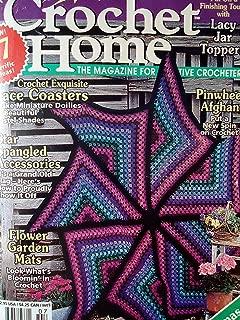 Crochet Home Number 53 Pinwheel Afghan, Lace Coasters June/July 1996