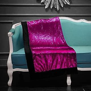 Pop Shop Mermaid Sequin Throw Blanket, rev, Pink/Gold