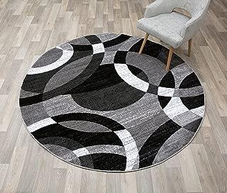 Contemporary Modern Circles Abstract Area Rug 6' 6