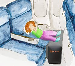 Inflatable Travel Pillow Bed/Leg Rest for Kids to Lie Down & Sleep on Long Flights, Long Distance Journeys in Cars, on Buses or Trains. Elevate Your Legs for Better Circulation. Gray. by KUKI