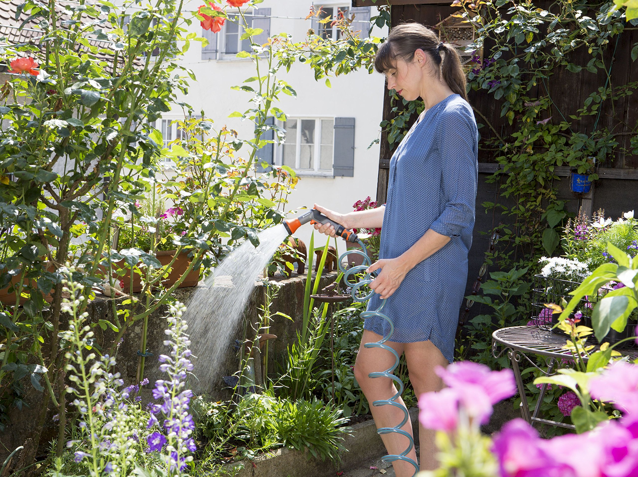 Gardena 18424-20 - Manguera espiral (10 m) multicolor: Amazon.es: Jardín