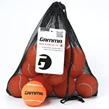 Gamma Bag of Pressureless Tennis Balls - Sturdy & Reuseable Mesh Bag with Drawstring for Easy Transport - Bag-O-Balls (12-Pack of Balls, Orange)