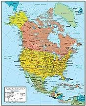 Swiftmaps North America Wall Map GeoPolitical Edition (18x22 Laminated)