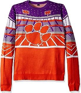FOCO NCAA Clemson Tigers Mens Light Up Bluetooth Speaker Sweaterlight Up Bluetooth Speaker Sweater