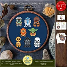 Star Wars Icons #K518 Embroidery Kit | Movie Cross Stitch Kits | Embroidery Kits | Needlepoint Kits | Embroidery Designs | Cross Designs