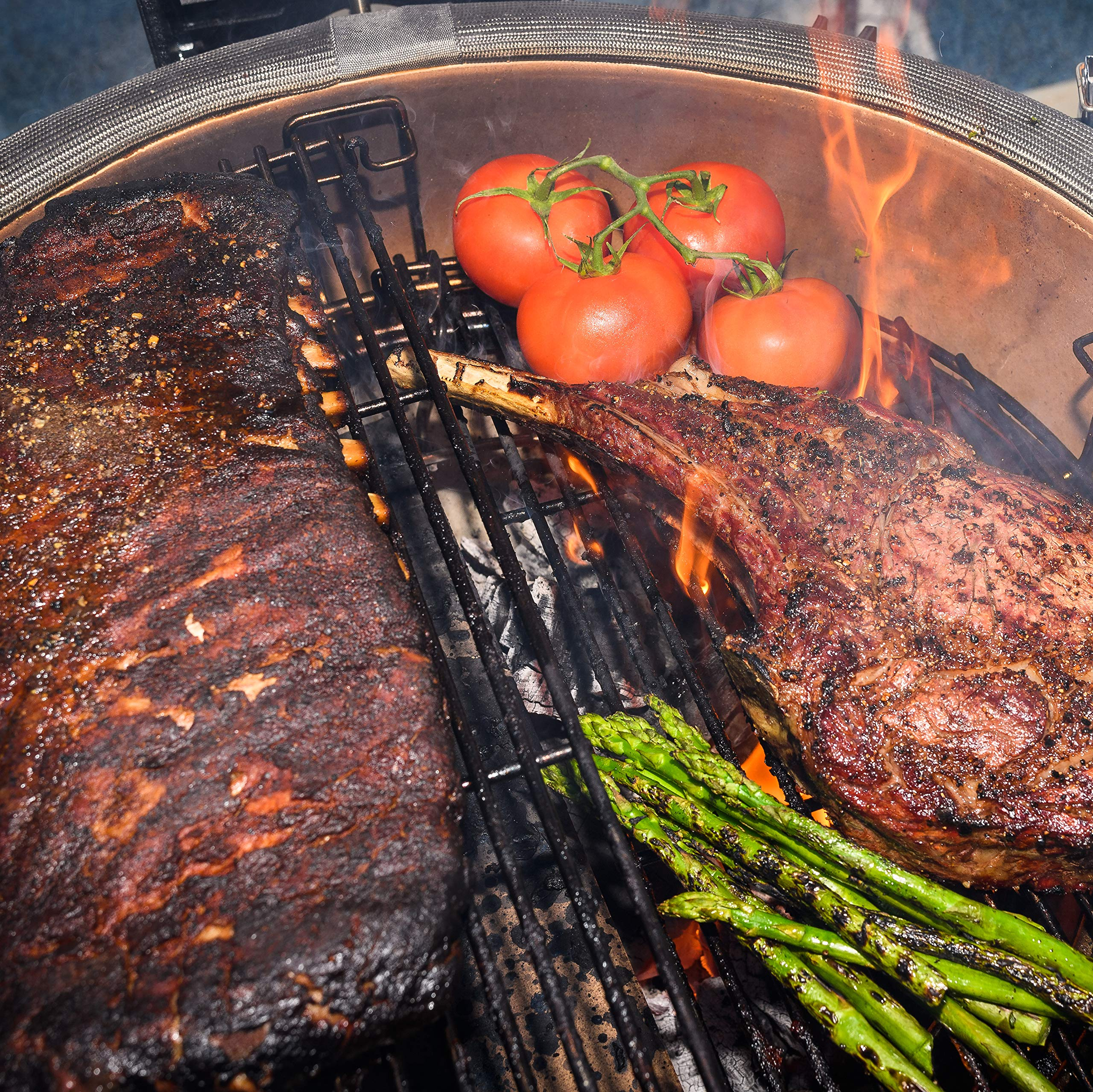 How grease is collected in Kamado Joe Grill