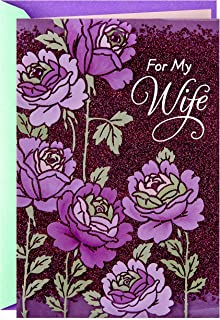 Hallmark Mothers Day Card for Wife (Purple Flowers)