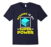 My Superpower Book Lovers Gift Shirts Navy