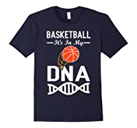 Sports Lover Tees - Basketball It\\\'s In My Dna T-shirt Navy