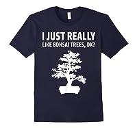 Like Bonsai Trees Anime Japanese Culture Zen Gift Shirts Navy