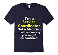 Funny Service Coordinator Job Career Client Occupation Gift Shirts Navy