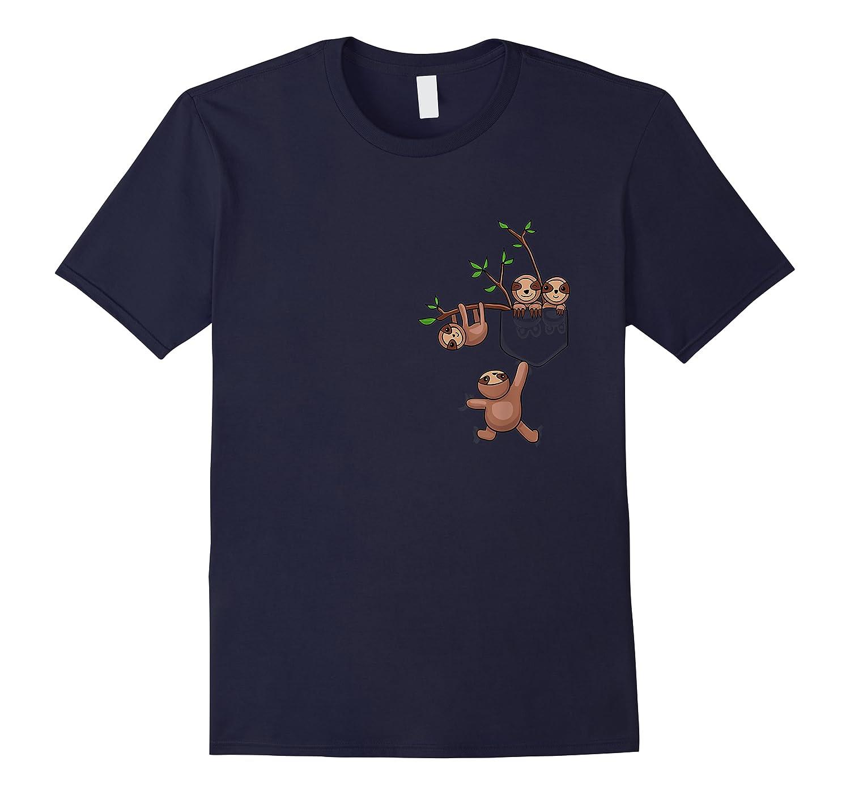 Sloth Family Lazy Sloth Sloth Pocket Shirts