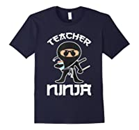 Ninja Tea Cool Art Teaching Lover Gift Shirts Navy