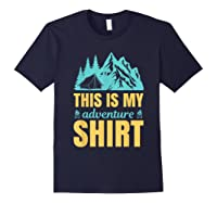 Hiking Outdoor Lover Mountains Hiker Shirts Navy