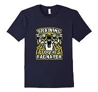 Viking Training For Ragnarok Gym Shirts Navy