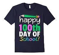 100th Day Of School Grade Tea Shirts Navy