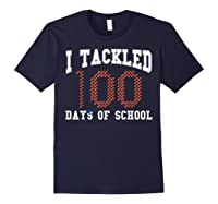 Funny Football 100th Day Of School Sports Out Tea Shirts Navy