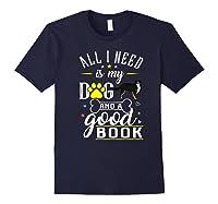 Bernese Mountain Dog Gift Funny Saying Book Love Reading Premium T-shirt Navy