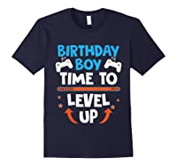 Birthday Boy Time To Level Up Video Game Gamers Gift T-shirt Navy