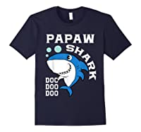 Papaw Shark Halloween Christmas Gift Shirts Navy