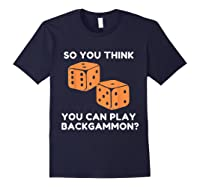 Best Ever Funny Backgammon Player Tee Board Game T Shirt Navy