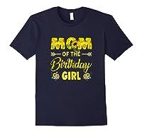 Mom Of The Birthday Girl Mom Sunflower Gifts Shirts Navy