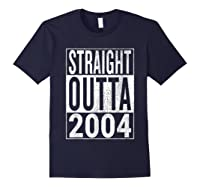 Straight Outta 2004 | Great 14th Birthday Gift Idea T-shirt Navy