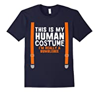 This Is My Human Costume I\\\'m Really Bumblebee Halloween T-shirt Navy