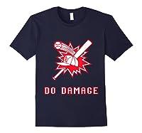 Done Damage Red Boston Championship Baseball Fan Awesome T-shirt Navy