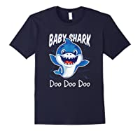 Baby Shark Doo Doo Birthday Party Gifts Girl Boy Out T-shirt Navy