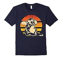 Retro French Bulldog T-shirt Gift Navy