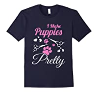 Pet Grooming For Cute Groomer Gift Shirts Navy